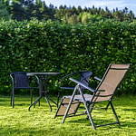 home garden with resting chairs