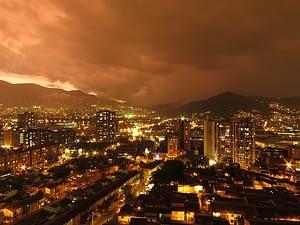 medellin city at night